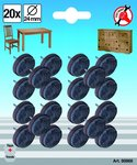 Juego de fieltros reforzados diametro 24 mm 20 piezas