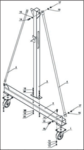 Gr a portico movil 1 ton