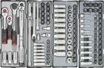 Práctico carrito de herramientas de 376 piezas