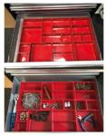 Bandejas de almacenamiento de plastico para Workshop Trolley 17 pzas.