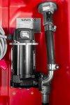 Tanque diesel rojo pe 220 litros, bomba 12v