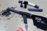 Pistola de aire para aspiración y soplado reversible 9 piezas