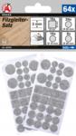 Juego de fieltros gris moteado 64 piezas