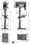 Taladradora de columna diámetro 25mm.