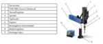 Roscadora eléctrica de m2 hasta m16 - 915 mm.