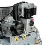 Compresor de aceite accionado por correa caldera galvanizada 10 bar - 100 litros -99kg