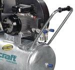 Compresor de aceite impulsado por correa caldera galvanizada 10 bar, 112 kg - 100 litros