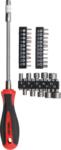 Juego de puntas de destornilladores con vastago flexible 31 piezas