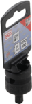 Adaptador de llave de vaso de impacto cuadrado interior 12,5 mm (1/2) - cuadrado exterior 6,3 mm (1/4)