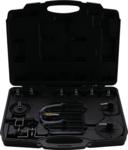 Purgador de freno neumático y juego de adaptadores 17 piezas