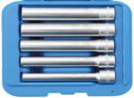 Juego de llaves de vaso hexagonal, extra largas propulsion cuadrado interior 10 mm (3/8) 8-14 mm 5 piezas