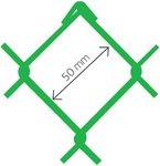 Armonica Accordo PVC verde Ral 6005 50x2,7 x 125 cm