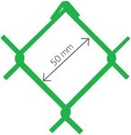 Armonica Accordo PVC verde Ral 6005 50x3.0 x 180 cm