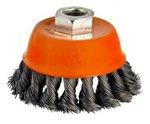 Cepillo de acero en forma de cuenco retorcido de 65mm de diametro