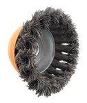 Cepillo de acero en forma de cuenco retorcido de 75mm de diametro