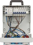 Distribuidor de pared 4/32 IP44 4x LS 230V/16 A, 1xLS 400V/16 A, 1xFI 40 A 4 polos 30mA
