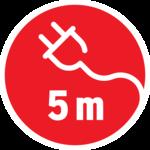 Antorcha de caucho 5m H05RN-F 2x0,75 60W E27