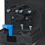Conector de enchufe de pared CEE integrado cuadrado negro