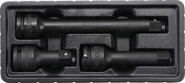 Juego de extensiones de impacto cuadrado exterior/interior 20 mm (3/4) 3 piezas