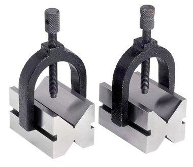 Par de piezas en V de 42 mm de diametro - abrazaderas de sujecion ajustables