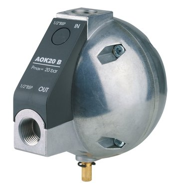 Purga de condensado automatica controlada por nivel