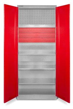 Armario de almacenamiento universal con estantes y cajones