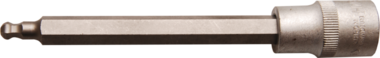 Punta de vaso longitud 140 mm entrada 12,5 mm (1/2) hexagono interior con cabeza de bola