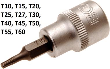 3/8 punta de vaso Torx (T-Star - sin agujero) T10