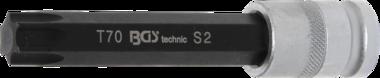 Punta de vaso longitud 120 mm entrada 12,5 mm (1/2) perfil en T (para Torx) T70