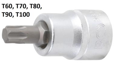 Punta de vaso entrada 20 mm (3/4) perfil en T (para Torx)
