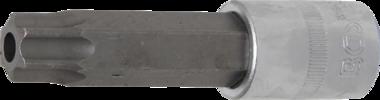 Punta de vaso longitud 100mm entrada (1/2) perfil en T (para Torx) con perforacion T80