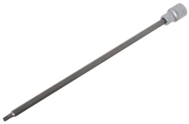 Punta de vaso longitud 300mm entrada (1/2) perfil en T (para Torx) con perforacion T30