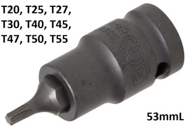 1/2 punta de vaso de impacto T-Star T20