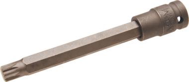 1/2 punta de vaso de impacto spline M10x10x140 mm