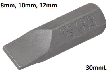 Punta entrada 8mm (5/16) plana