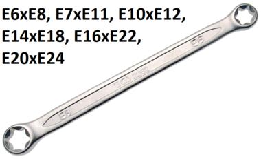 Llave de estrella doble con cabezas E-Torx