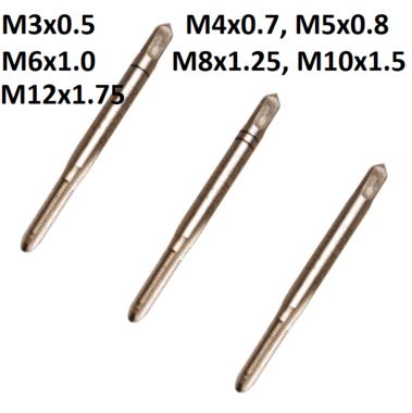 Juego de machos macho inicial, central y de acabado M3 x 0,5 3 piezas
