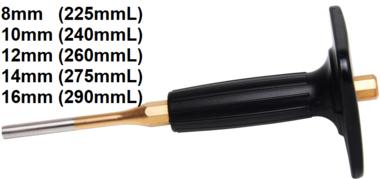 Broche paralelo de 8 mm, 225 mm de longitud