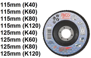 Disco de aleta, 115 mm, Tamano de grano 40