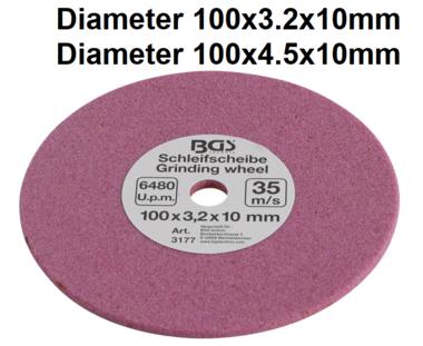 Disco abrasivo para BGS 3180, 100 x 3,2 x 10 mm