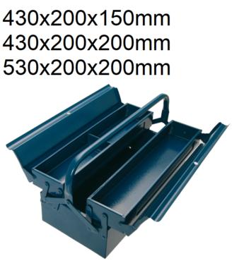 Caja metalica para herramientas 430 x 200 x 150 mm 3 piezas