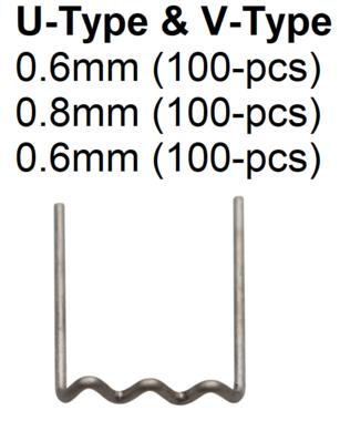 Grapas de reparacion forma de U diametro 0,6 mm 100 piezas