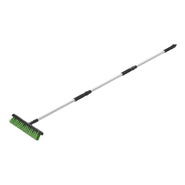 Water broom with garden hose connector