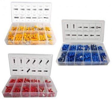 Conectores de cable rojo, azul, amarillo 650 piezas