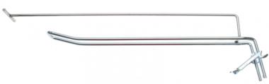 Gancho de pared doble 300 x 4,8 mm con brazo de soporte y pasador transversal