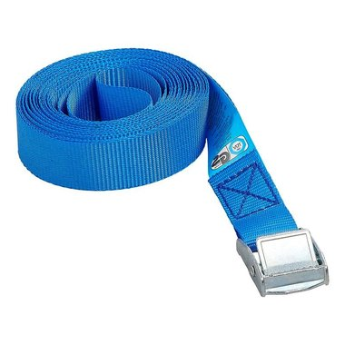 Tie down strap blue with snap-lock 5 meter