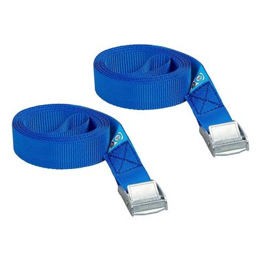 Tie down strap blue with snap-lock 2x2.5 meter