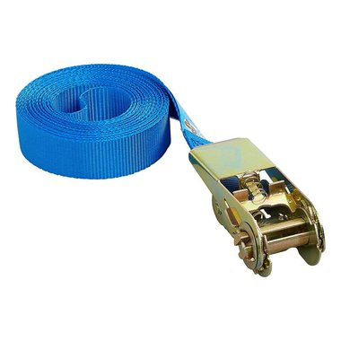 Tie down strap blue with ratchet 5 meter