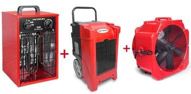 Juego de secadores BDE90 + Ventilador MV500PP + Calentador