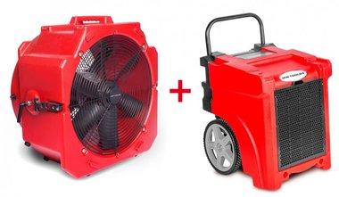 Juego de secadores BDE50 + Ventilador MV500PP